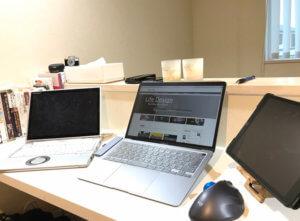 macbookのある部屋